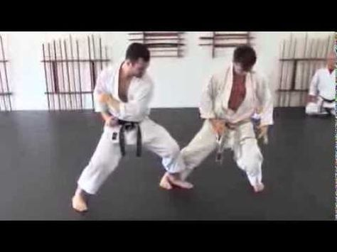 the utilization of a front leg sweep and connection to the center in karate kumite. Karate, an art for all people to help develop character, coordination, st...