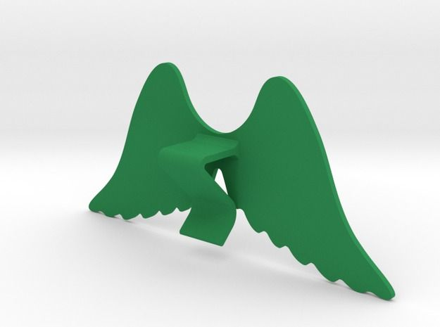 Mug & glass accessories wings 4 3d printed Accessories For Your Home Green Strong & Flexible Polished - https://www.shapeways.com/model/2758955/mug-glass-accessories-wings-4.html?materialId=6