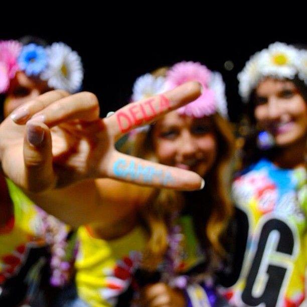 Hippie themed bid day! Peace, Love, and DELTA GAMMA!