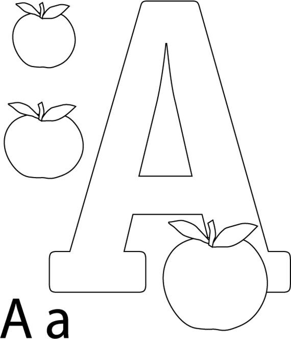 Best Coloring Pages Of Alphabet Letter A Alphabet Coloring Pages Letter A Coloring Pages Apple Coloring Pages