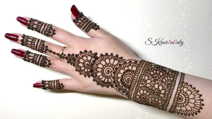 Henna Art #4   Beautiful Circular Mehendi Design with Pearl Effect Dots ...