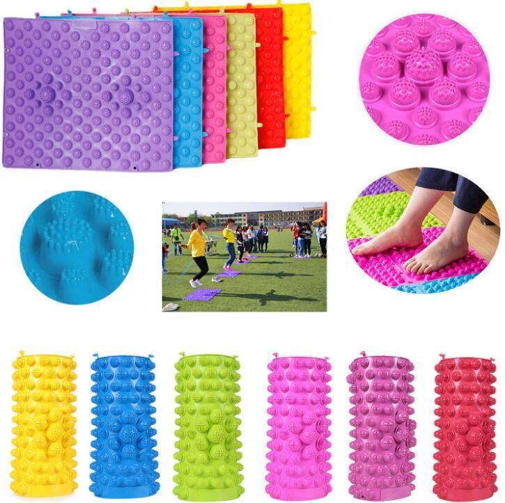 تدليك القدم الوخز بالابر المشي حصيرة أطفال أطفال الروضة الحسية التوحد العلاج 29 39 سنتيمتر في تدليك القدم الوخز Acupressure Acupressure Therapy Kids Sensory
