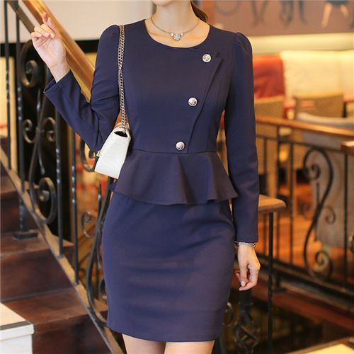 New Autumn Winter Dresses Women Tunic Blue Dress Ruffles Long Sleeve Office Sexy Casual Party Dress Vestidos Plus Size XXL