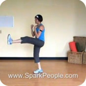 VIDEO: 10-Minute Cardio Kickboxing Workout    This is a great video!!