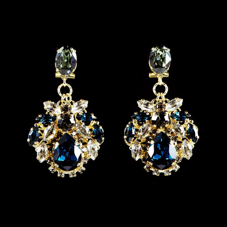 New Anton Heunis 'Tsarina' Crystal Cluster Earrings (TS3 09) | Alexandra May