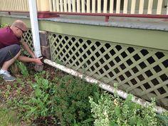 DIY Rain Gutter Watering System: Turn your gutter into a sprinkler!