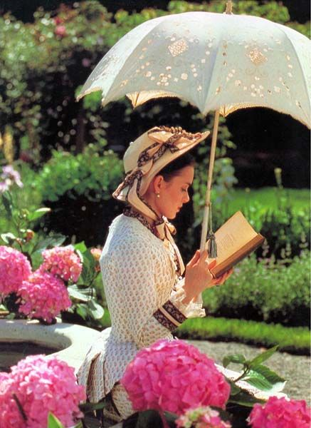 The age of Innocence-May's day Florida outfit.  I could sit and read all day under a parasol, couldn't you?