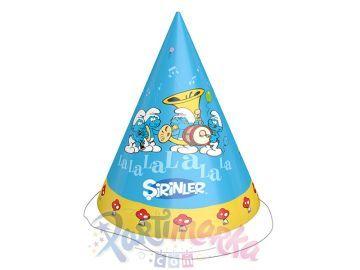 Şirinler Doğum Günü Şapkaları