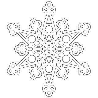 ¡No coma la pasta: Una media docena de los copos de nieve para colorear