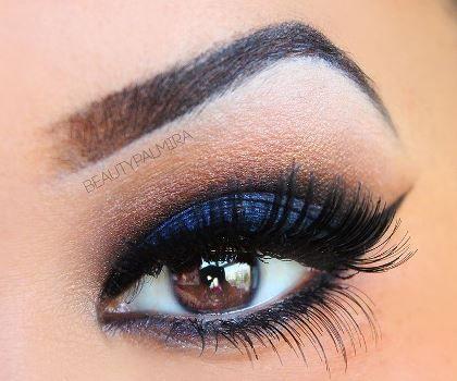 As requested – Smokey blue eyeshadow   AmazingMakeups.com