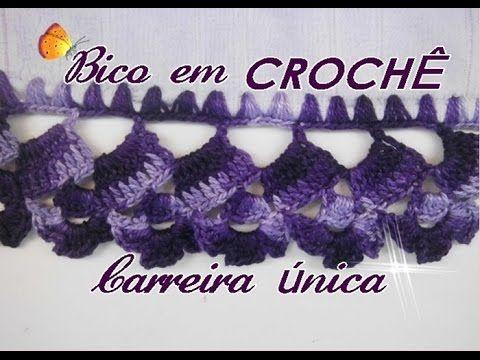 BICO EM CROCHÊ-CARREIRA ÚNICA