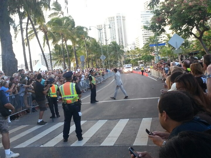 Crowds line the streets for Daniel Dae Kim in Waikiki for Hawaii Five 0 premiere.  9.23.12