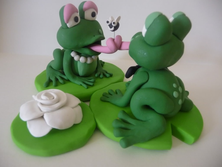 clay frogs tying the knot