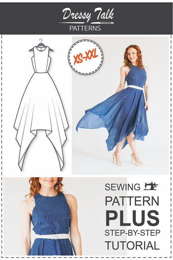 Maxi Dress Pattern PDF Sewing Patterns von DressyTalkPatterns