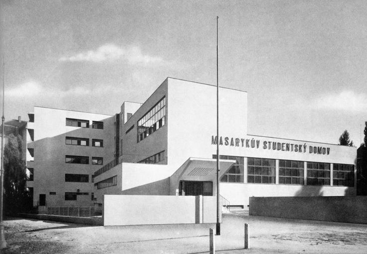 Student Housing, Bohuslav Fuchs, Brno, Czechoslovakia, 1930s