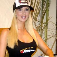 """Tara Rice: The poker hottie – Tara Rice, a professional poker player, model and an actress, well-known for her perfect measurements of 36-24-34 and standing at 5'9"""", with her blonde hair and blue-green eyes certainly qualifies for the hottest poker babes in the poker world. In her professional poker career, she has appeared in almost all major tournaments and is a hot discussion on many online poker forums."""