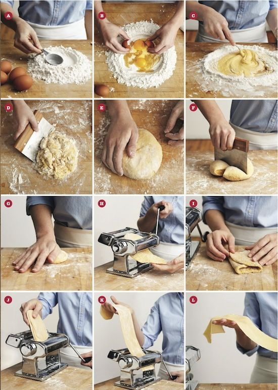 How To Make Fresh Pasta Dough 6 (4,75) dl flour 4 (3) eggs 1/2 tsp salt pasta machine