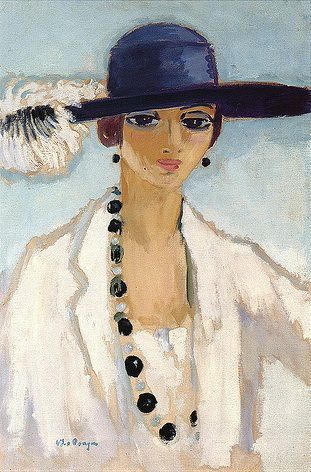 Kees van Dongen, Lady with Beads, c.1923 #millinery #judithm #hats