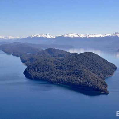 Isla Victoria desde el aire