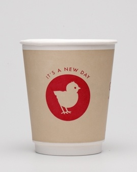 i would drink coffee every morning if it came in this cute lil take away cup :)    cute packaging for gail's bakery designed by 'here design'