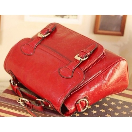Solid Red Zipper PU Fashion Bags $9.80