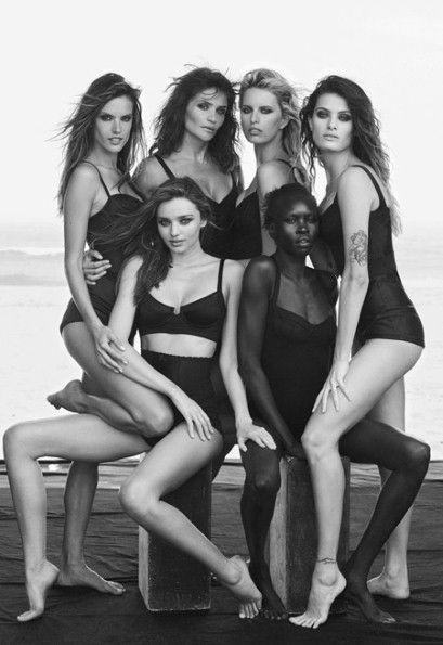 Miranda Kerr, Helena Christensen, Karolina Kurkova, Alessandra Ambrosio, Alek Wek and Isabeli Fontana.