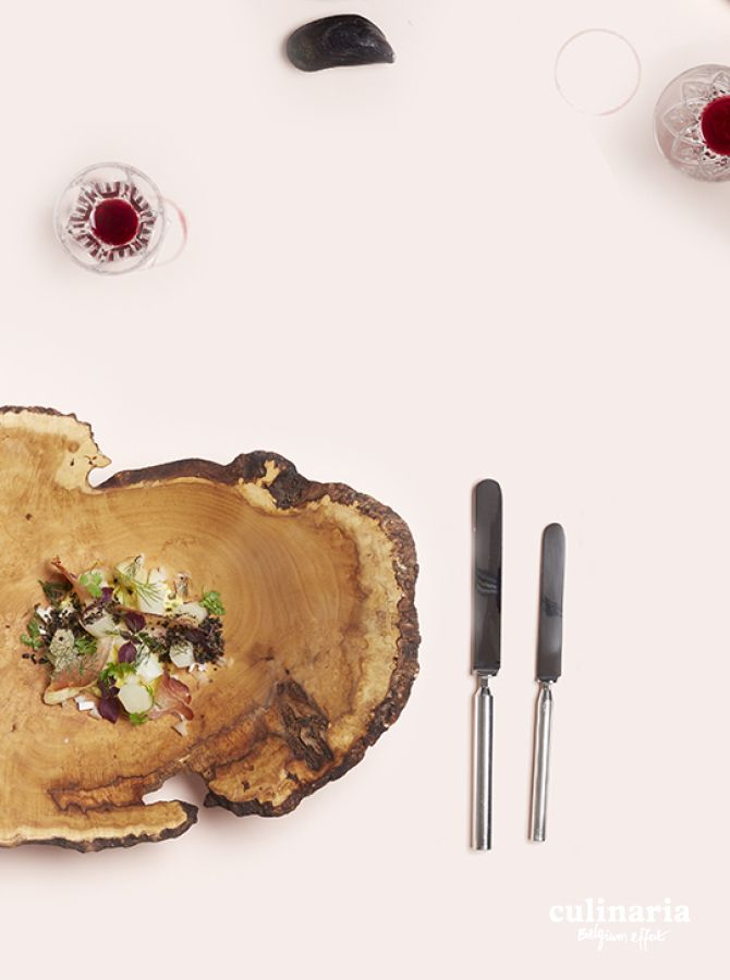 "Thomas Troupin & Marie-Charlotte Portois - Asperges blanche à la ""flamardennaise "": jambon de biche de Markus Schulze,Birkenhof aButgenbach - Witte asperges op zijn ""Vlaamsardens"": reeham van bij Markus Schulze, Birkenhof in Butgenbach - #culinaria2015 #belgiumeffect www.culinaria.com"