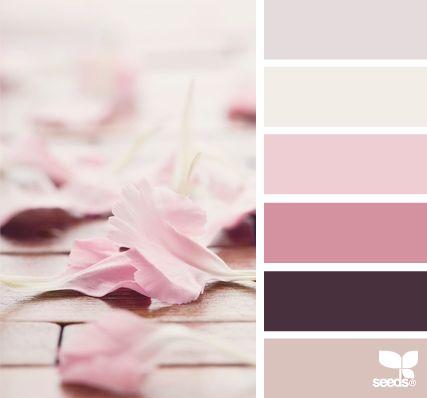 petalled tones - voor meer kleurinspiratie en kleurentrends check ook http://www.wonenonline.nl/interieur-inrichten/kleuren-trends-2014/ eens