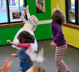 """Blog article on """"Winter Movement-Dance Games"""" creating a snow-blizzard dance (by Connie Dow)"""