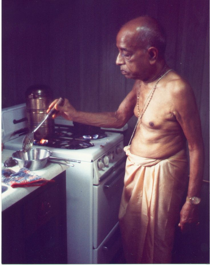 """Why don't we eat onions and garlic? They are vegetables, too."""" Prabhupada: """"Krishna does not like. We are not so much vegetarians. We are prasadatarians."""""""