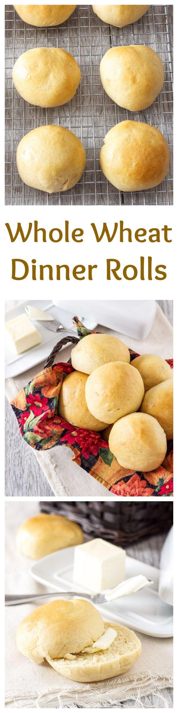 Whole Wheat Dinner Rolls | Recipe Runner | My family's recipe for soft ...