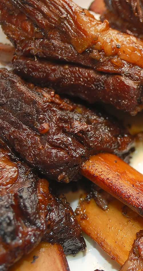 These flavorful short ribs perfectly illustrate how braised meat can turn out succulent and tender enough to cut with a fork.