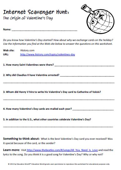 Printables Internet Scavenger Hunt Worksheet 1000 ideas about internet scavenger hunt on pinterest esl valentines day