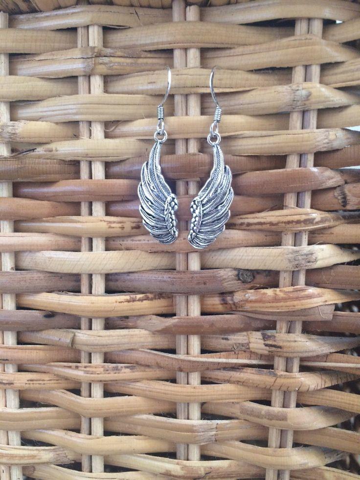 Wing earrings #comeflywithme #silverearrings #silverwings #wingdesign  Shop at www.etsy.com/au/shop/ChrisRoseBijoux