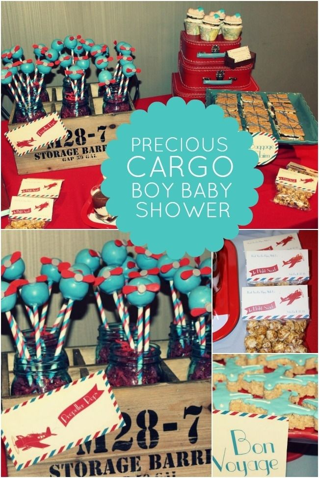 122 best images about precious cargo baby shower airplane for Airplane baby shower decoration ideas