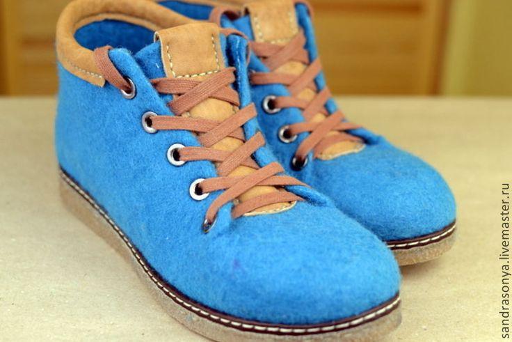 """Купить Ботиночки валяные женские """"Hot Spring"""" - ботинки, валенки, сапоги, Женские ботинки"""
