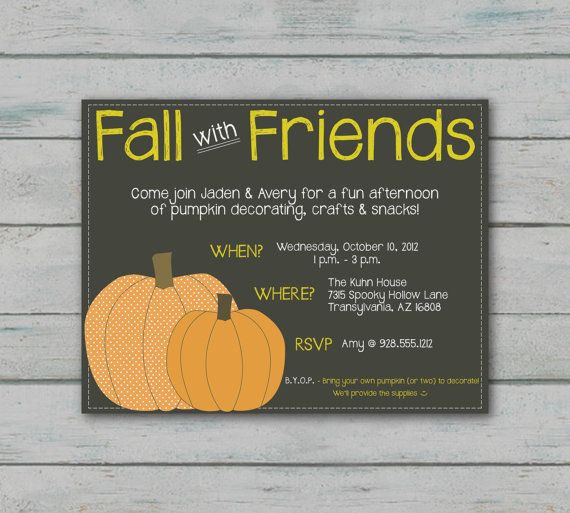 Fall Party Invitation by envelope327 on Etsy, $15.00