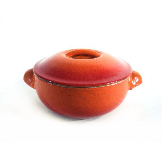 Le Creuset Cast Iron Orange Casserole Dish by LaBelleEpoqueDeco