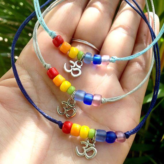 chakra OM bracelet anklet yoga jewelry friendship bracelet