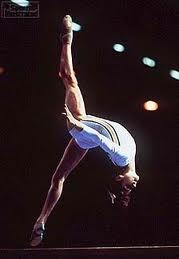 Nadia Comenici! The first person to score a perfect 10.0 in the history of gymnastics