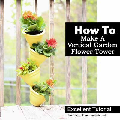 Best 25 flower tower ideas on pinterest flower pot tower garden tower diy and stacked flower - Garden tower vertical container garden ...