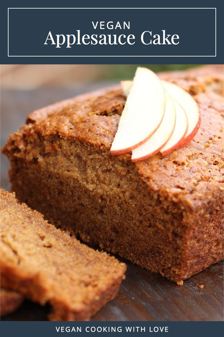 Vegan Applesauce Cake from Vegan Cooking with Love