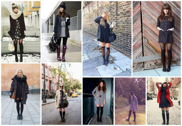 19 best tenue automne images on pinterest my style - Comment porter les chaussettes hautes ...