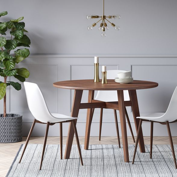 44 Maston Dining Table Round Hazelnut Project 62 In 2020 Dining Room Small Brown Dining Table Round Dining Table