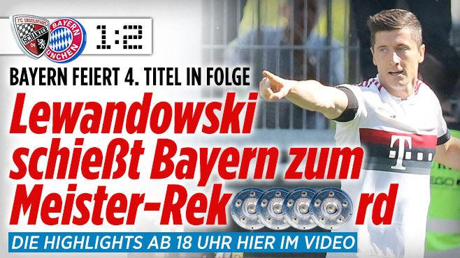 FC Ingolstadt 04 gegen FC Bayern München am 33. Bundesliga-Spieltag - Bundesliga Saison 2015/16 - Bild.de