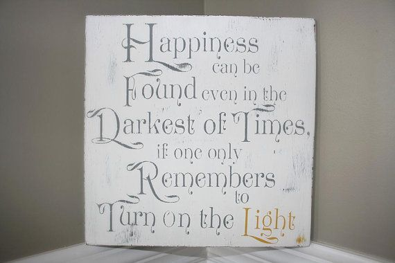Happiness Can Be Found: Dumbledore quote wood sign Harry Potter