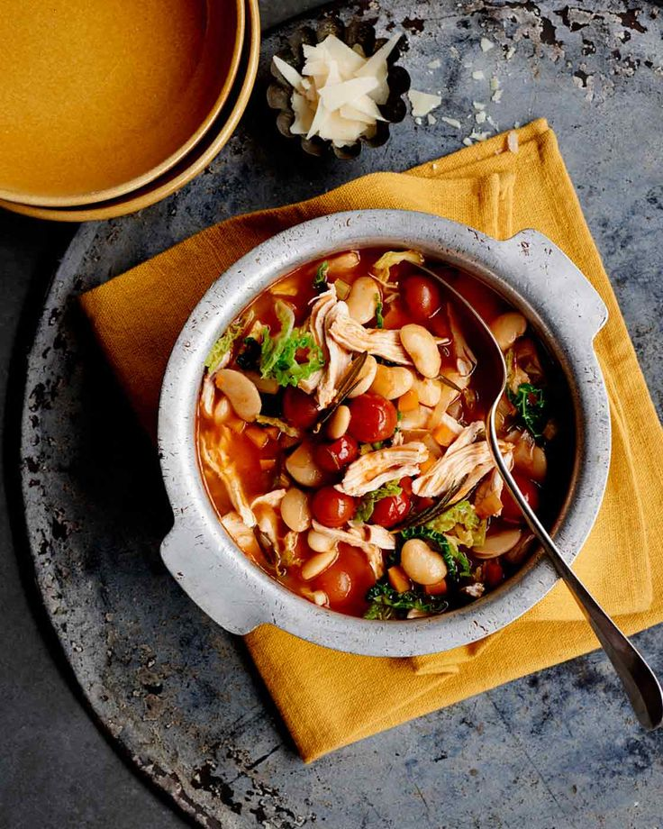Fast chicken, butter bean and tomato stew is a great midweek meal that is ready in just 30 minutes
