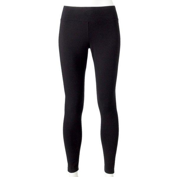 Jockey Sport Ankle Leggings ($21) ❤ liked on Polyvore featuring pants, leggings, black, elastic waistband pants, lined pants, legging pants, patterned trousers and patterned leggings