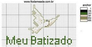 Batizado: Religioso Ems, Ems Point, Cross Stitch, Cruz Grafico, Motivo Religioso