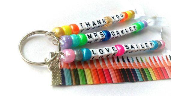 Thank you teacher gift, teacher keyring, end of year gift for miss, Mrs, Mr, ms, end of term gift, leaving teacher keychain
